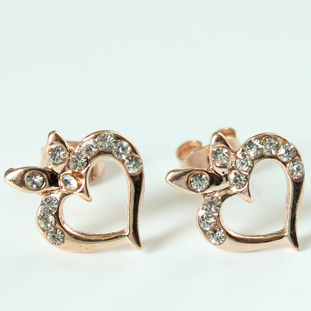 Fashion Evil Eye Heart Crystal Stud Earrings For Women Girls Brand Jewelry Brincos Pendientes Mujer Moda Joyeria Marcas Famosas 2