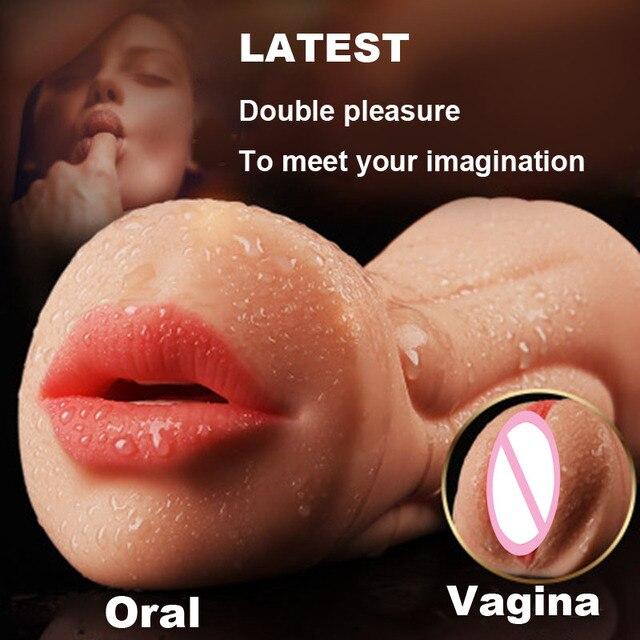 Realistic Oral 3D Deep Throat with Tongue Teeth Maiden Artificial Vagina  Male Masturbators Oral Sex Toys for Men