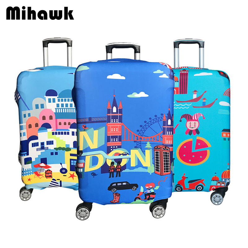 Luggage Cover Darkness Devil Love Peace Angel Protective Travel Trunk Case Elastic Luggage Suitcase Protector Cover