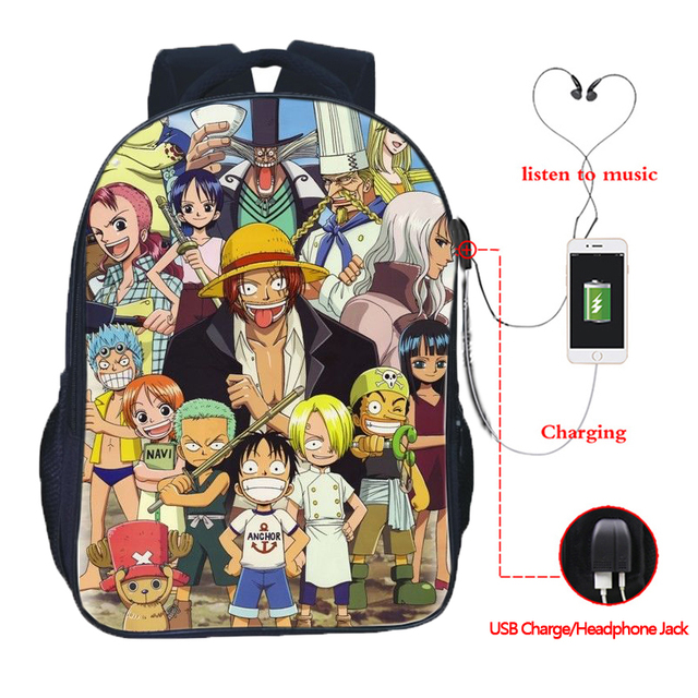 Luffy In A Bag Roblox Top Quality One Piece Usb Charge Bags Monkey D Luffy School Backpack Fashion Portgas D Ace Usb Charging Schoolbag Teens Backpack Backpacks Aliexpress