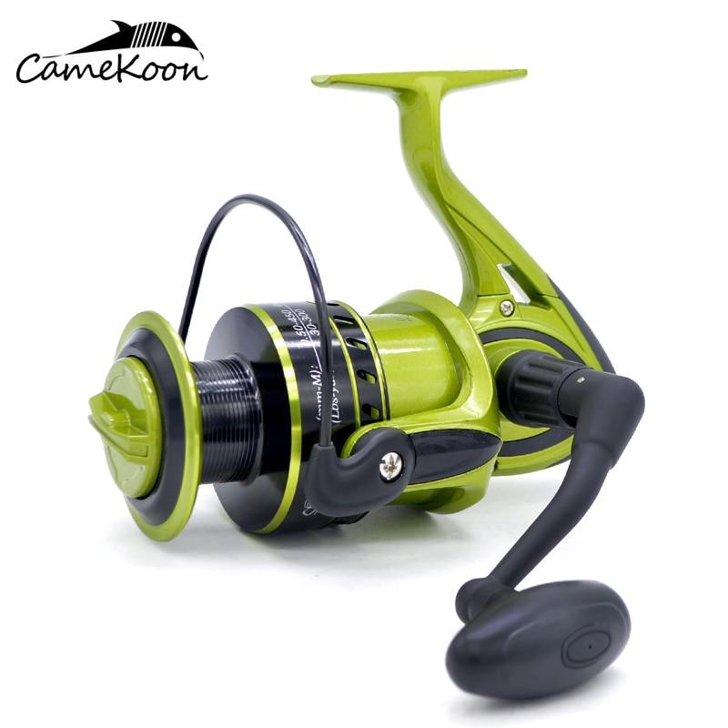 CAMEKOON 9000 11000 Series Saltwater Spinning Fishing Reel 10 1 Bearings 8KG Max Drag Powerful Large