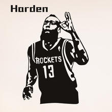 Free shipping Basketball player James Harden classic action poster wall decorative stickers Wall Decals Home Decor
