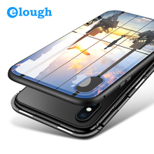Elough Magnetic Case for iPhone X 7 8 plus Case Full Cover Mobile Phone Case Magnet Adsorption Flip Tempered Glass Case Magnetic