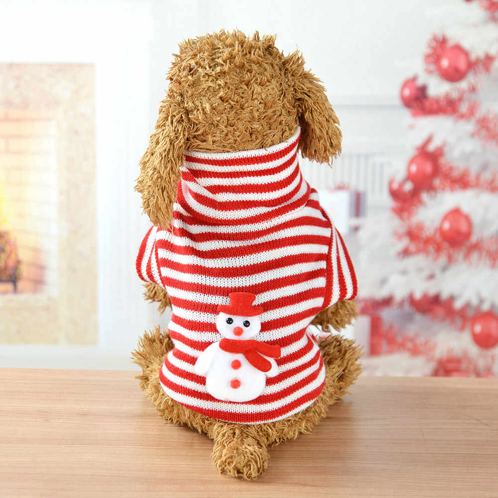 Fashion Christmas Comfortable Pet Clothes Festival Stripe Snowman Sweater dog clothes for small dogs winter puppy chihuahua