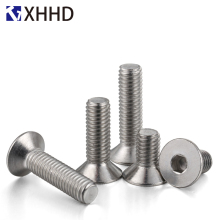 DIN7991 Hex Flat Socket Head Cap Screw Metric Thread Hexagon Allen Countersunk Machine Bolt 304 Stainless steel M5 M6 M8 30pcs lot free shipping m6 8 10 12 14 16 18 20 22 25 30 35 70mm stainless steel flat head drive hexagon socket cap screw bolt