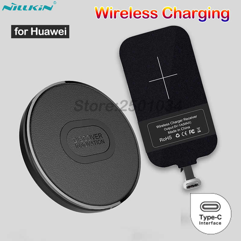 Nillkin Mini Qi Wireless Charger+USB Type C Receiver Wireless Charging for Huawei Honor 9 10 20 P9 P30 P20 Lite Mate 20 9 10 Pro