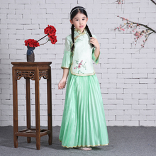 2017 autumn chinese dance costumes kids children traditional pink costume girls traditional ancient chinese clothing hanfu dress