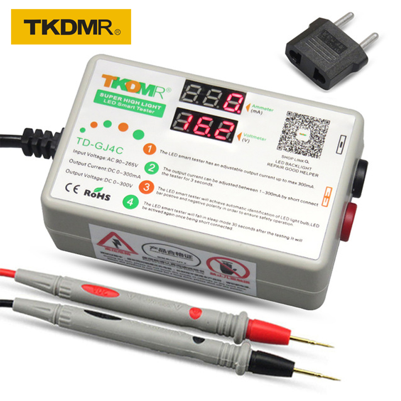 TKDMR-GJ4C New Architecture LED Lamp LCD TV Backlight Tester Polarity Automatic Identification 90W 0-300V 1-300MA