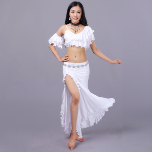 Image 5 - セクシーな東部オリエンタルベリーダンス衣装カール作物トップス女性ベリーダンスの服ベリーダンサー服着用
