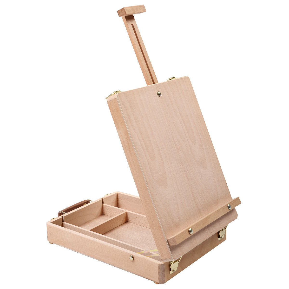 NEW Easel with Integrated Wooden Box Art Drawing Painting Table Box Multifunctional Oil Paint Suitcase Desktop Box Art Supplies table easel artist craft with integrated wooden box art drawing painting table box scll