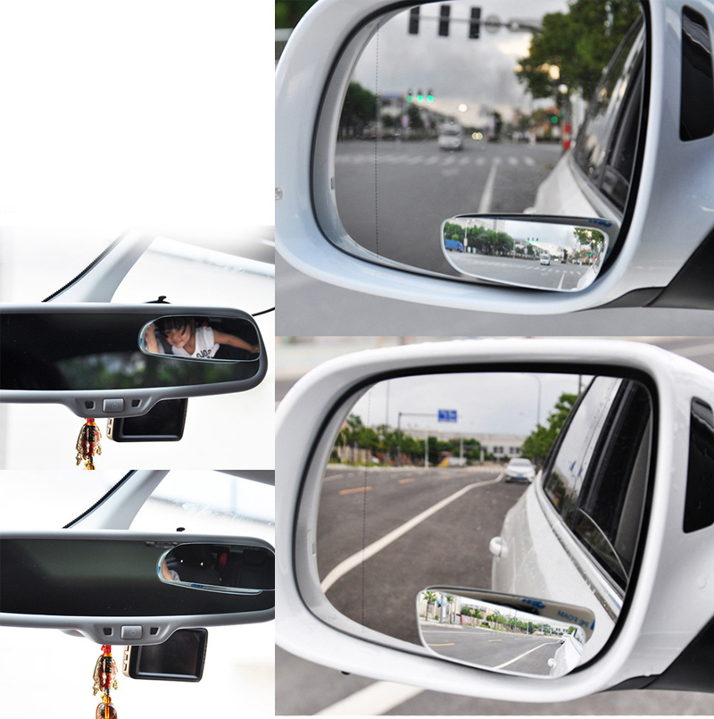 HTB1lxVKJh1YBuNjy1zcq6zNcXXaL 2pcs/lot Car Accessories Small Round Mirror Car Rearview Mirror Blind Spot Wide angle Lens 360 degree Rotation Adjustable