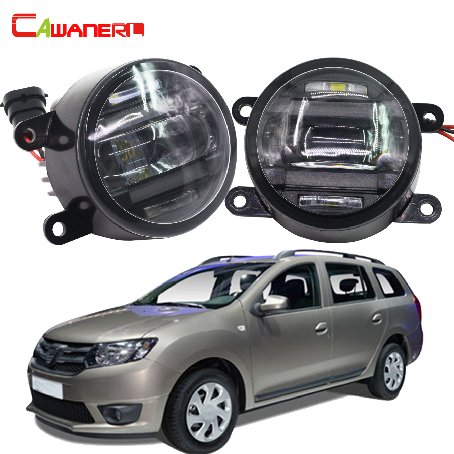 Cawanerl 1 Pair Car Accessories Fog Light LED DRL Daytime Running Lamp For Dacia Logan Estate MCV KS_ 2007 2008 for dacia logan saloon ls