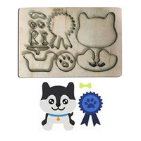 dog tag metal cutting dies scrapbooking wooden board cutter steel rule die mold paper cardstock leather felt blade punch