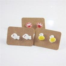 Miredo jewelry wholesale new fashion stud ceramic earrings flower stud  vintage earring anime for women 1716 371812f7f3b2
