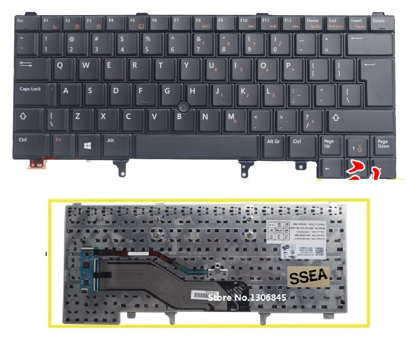 SSEA New UI Keyboard English For DELL Latitude E5420 E5430 E6220 E6320 E6330 E6420 E6430 laptop black Keyboard