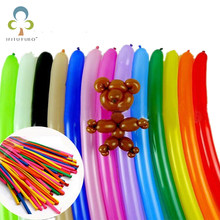 50pcs Mix color 16cm/26cm balloon Wedding Birthday Party Decoration Magic Ballons Kids Assorted Latex Long Air Globos toys GYH(China)