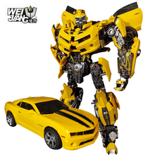 лучшая цена WEIJIANG Transformation  MPM-03 MPM03 MPM 03 Yellow Bee Movie Oversize 28CM Alloy Version Collection Action Figure Robot Toys
