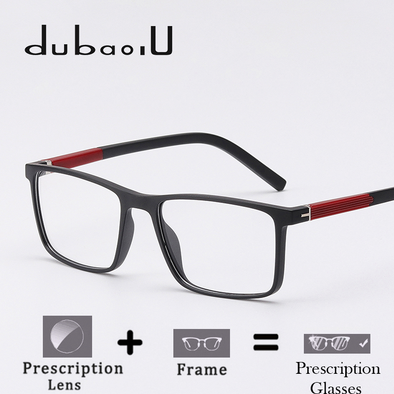 TR90 Prescription Eyewear Fashion Square Anti Blue Progressive Transition Clear Optical Prescription Spectacles For Men #MZ05-10