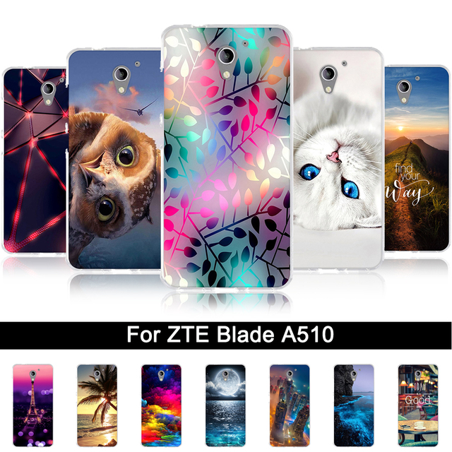 Soft TPU Cases For ZTE Blade A510 Luxury Painting Silicone Cover Case for ZTE BA510 Back Protection Phone Shells For ZTE BA 510