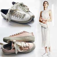 Sapatos femininos outono rendas até cor sólida todos os jogos zapatos de mujer 2018 nova chegada de alta qualidade sapatos lona 35-40 nvx34