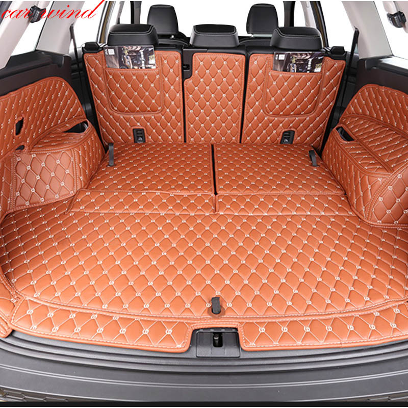 Car wind Custom car trunk mat For skoda kodiaq 2017 2018 yeti Cargo Liner Interior Accessories Carpet car styling custom cargo liner car trunk mat carpet interior leather mats pad car styling for dodge journey jc fiat freemont 2009 2017