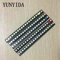 100 шт. = 5 цветов x 20 шт. 5050 5730 1210 1206 0805 светодиодный Диод в ассортименте SMD светодиодный Диод в комплекте зеленый/красный/белый/синий/желтый