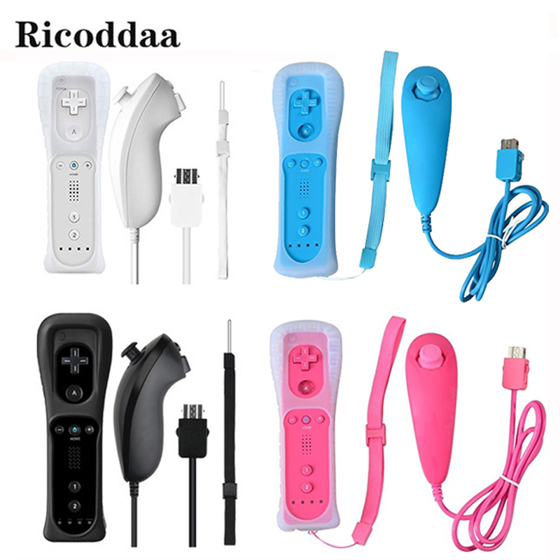 Für Nintend Wii Wireless GamePad Remote Controle Ohne Motion Plus + Nunchuk Controller Joystick Für Nintendo Wii Zubehör