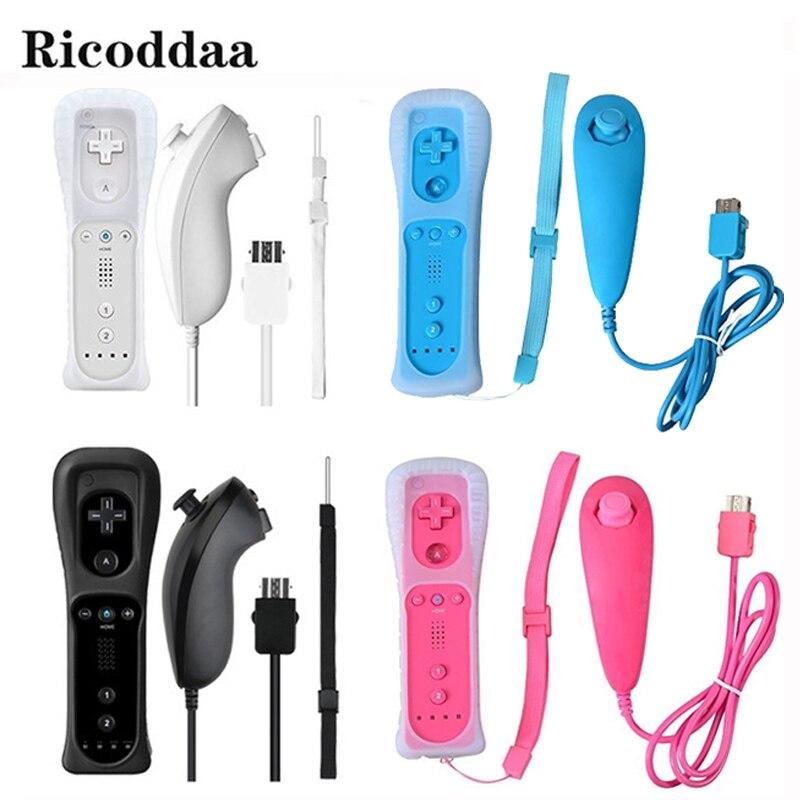 Para Nintend Wii Controle Remoto Sem Motion Plus + Nunchuck Controlador GamePad Sem Fio Joystick Para Nintendo Wii Acessórios