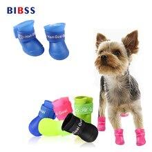 BIBSS Собака Дождь 4 Шт./лот кошка собака носки конфеты Цвета Сапоги Собака Водонепроницаемый Пэт Красочные для Йорки собаки