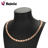 RainSo Magnetic Bio Energy Necklace Germanium Healing Power Necklaces Health Jewelry For Women Magnetic Therapy