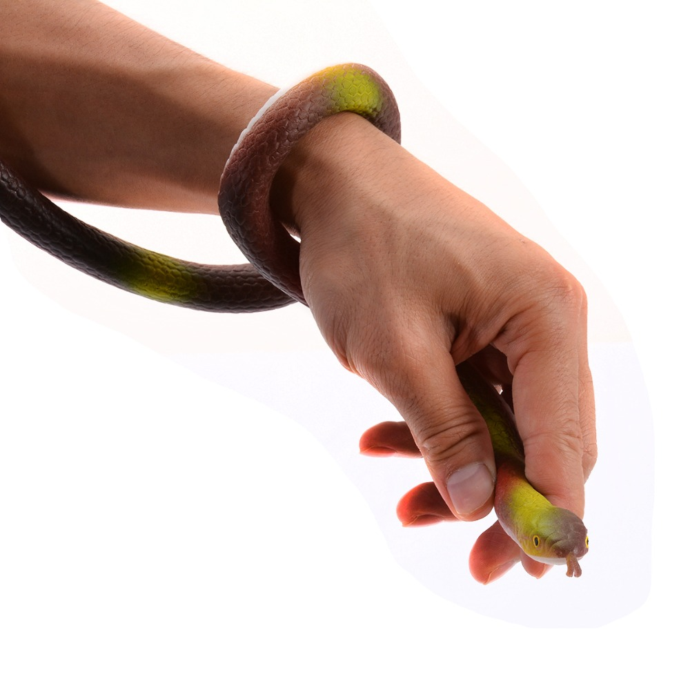 120cm Halloween Props Rubber Snake Toy Fake Snakes Joke Prank Props for Kids Gift Home Party Decoration