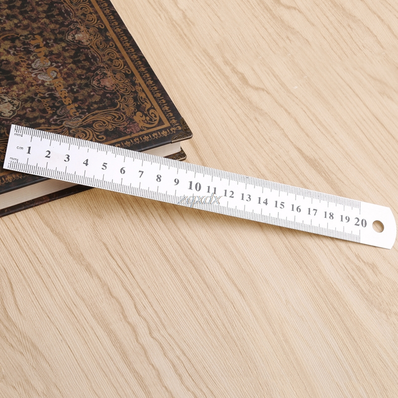 Steel Ruler Thicker Drafting Supplies Hardware Tools Ruler Double Faced For Office And School Kawaii Whosale&Dropship
