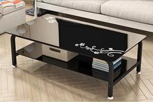 Современные закаленное стекло, чайный столик… Небольшой комнаты творческий чайный столик в гостиной ..