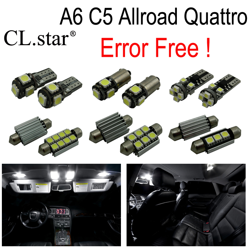 29pc x 100% Error Free LED bulb interior dome reading light kit package for Audi Allroad Quattro (2000-2005) 15pc x 100% canbus led lamp interior map dome reading light kit package for audi a4 s4 b8 saloon sedan only 2009 2015