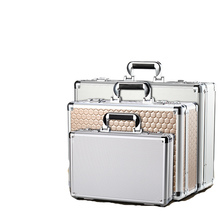 Aluminum alloy portable password toolbox document file makeup storage organizer confidential mobile cash safety box flight case
