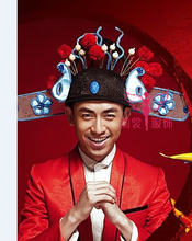 Красные великолепные старинные китайские свадебные диадемы для