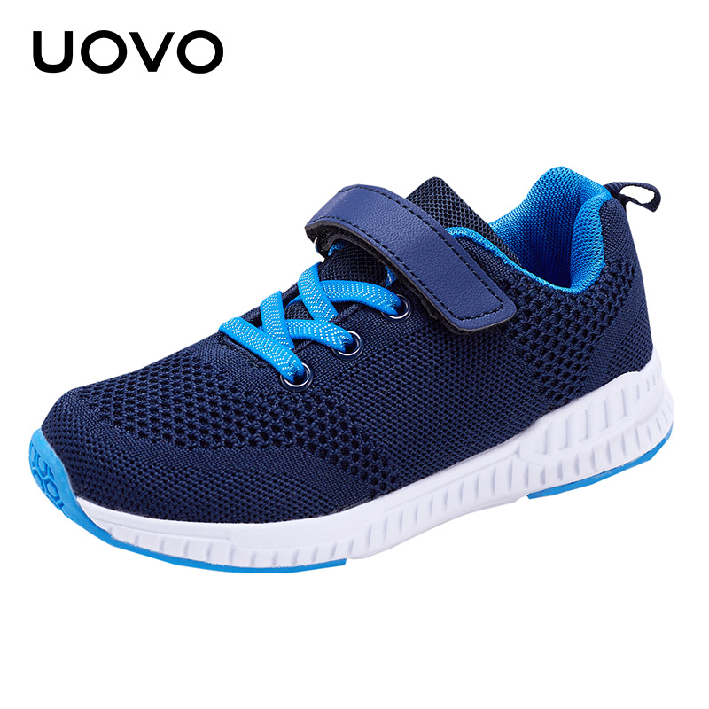 UOVO 2018 New Kids Sneakers Comfortable Breathable Fashion Mesh Upper Boys & Girls Casual Shoes for Eur Size #26-36 eur 26 39 new children sneakers for boys sport shoes kids for girls fashion breathable mesh student casual shoe children shoes