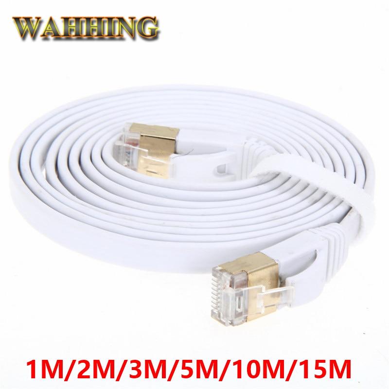 Cat7 Ethernet-kabel RJ45 Cat 7 Flat Network Lan-kabel rj45 Patchkabel 1M 2M 3M 5M 10M för PC Router Bärbar Datorkabel Ethernet HY1539