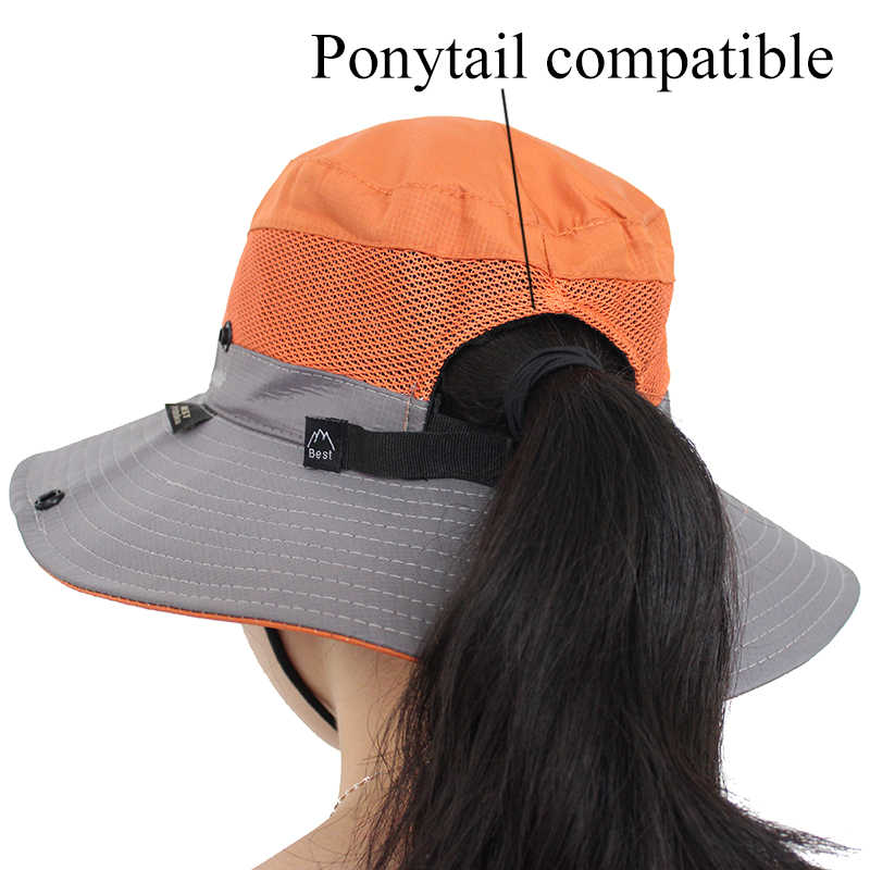 444e2b76d1d88 ... Waterproof UPF 50+ Sun Hat Bucket Summer Men Women Fishing Boonie Hat Sun  UV Protection ...