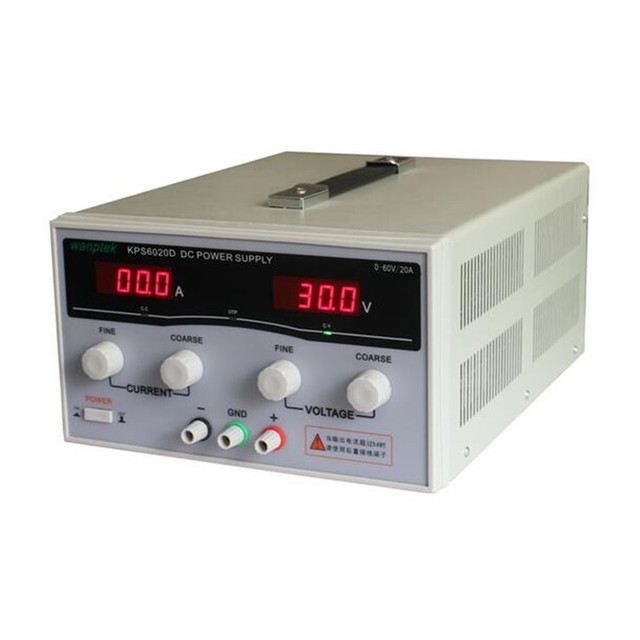 1200W KPS6020D High precision High Power Adjustable LED Dual Display Switching DC power supply 220V EU 60V/20A 0.1V / 0.1A