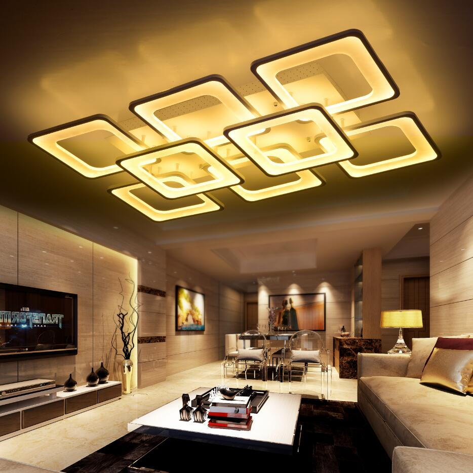 Dálkové ovládání obývací pokoj ložnice moderní led stropní světla luminaria para sala stmívání led stropní lampa deckenleuchten