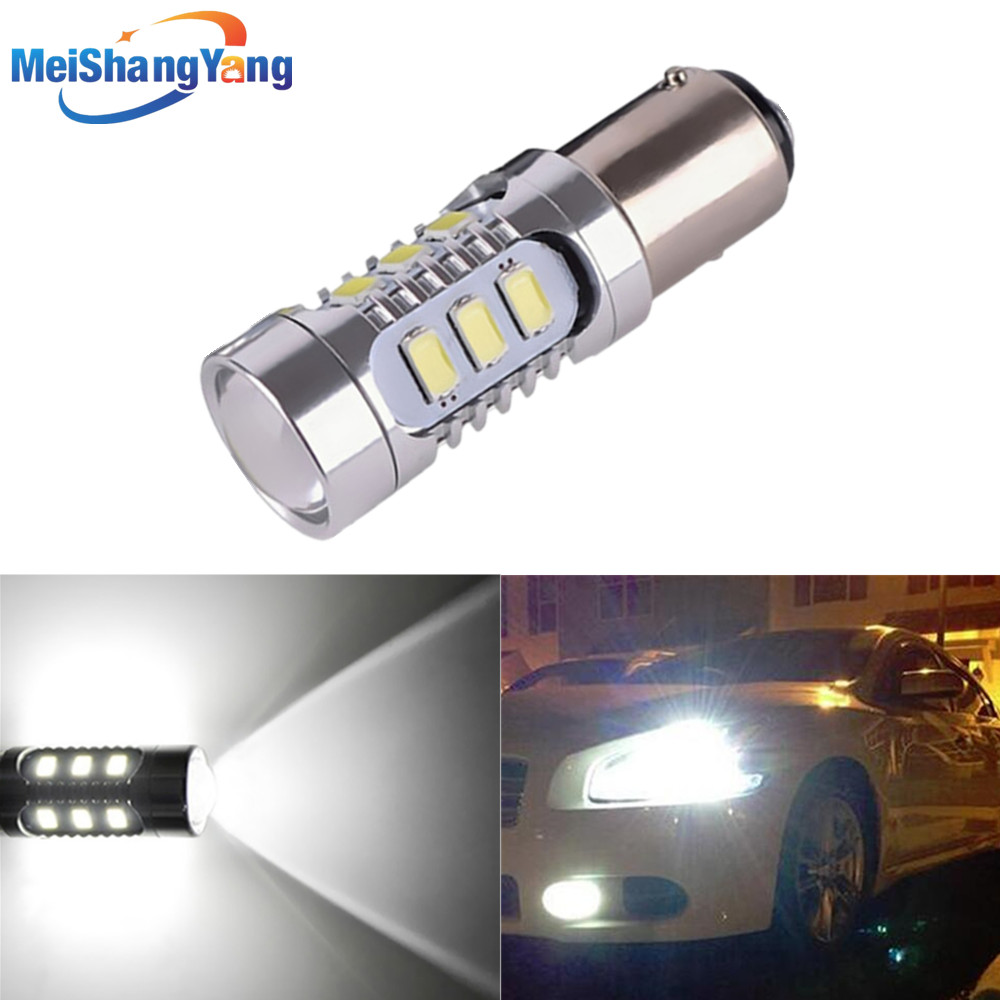 1157 12 5630 SMD BAY15D led High Power lampa 21 / 5w led billampor bromsbelysning Källa parkering 12V 24V vit röd gul