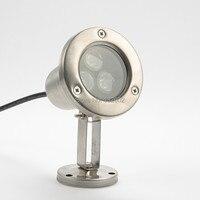 5 stück 12v energieeinsparung unterwasser-lampe rgb 3w high power ip68 led-leuchten