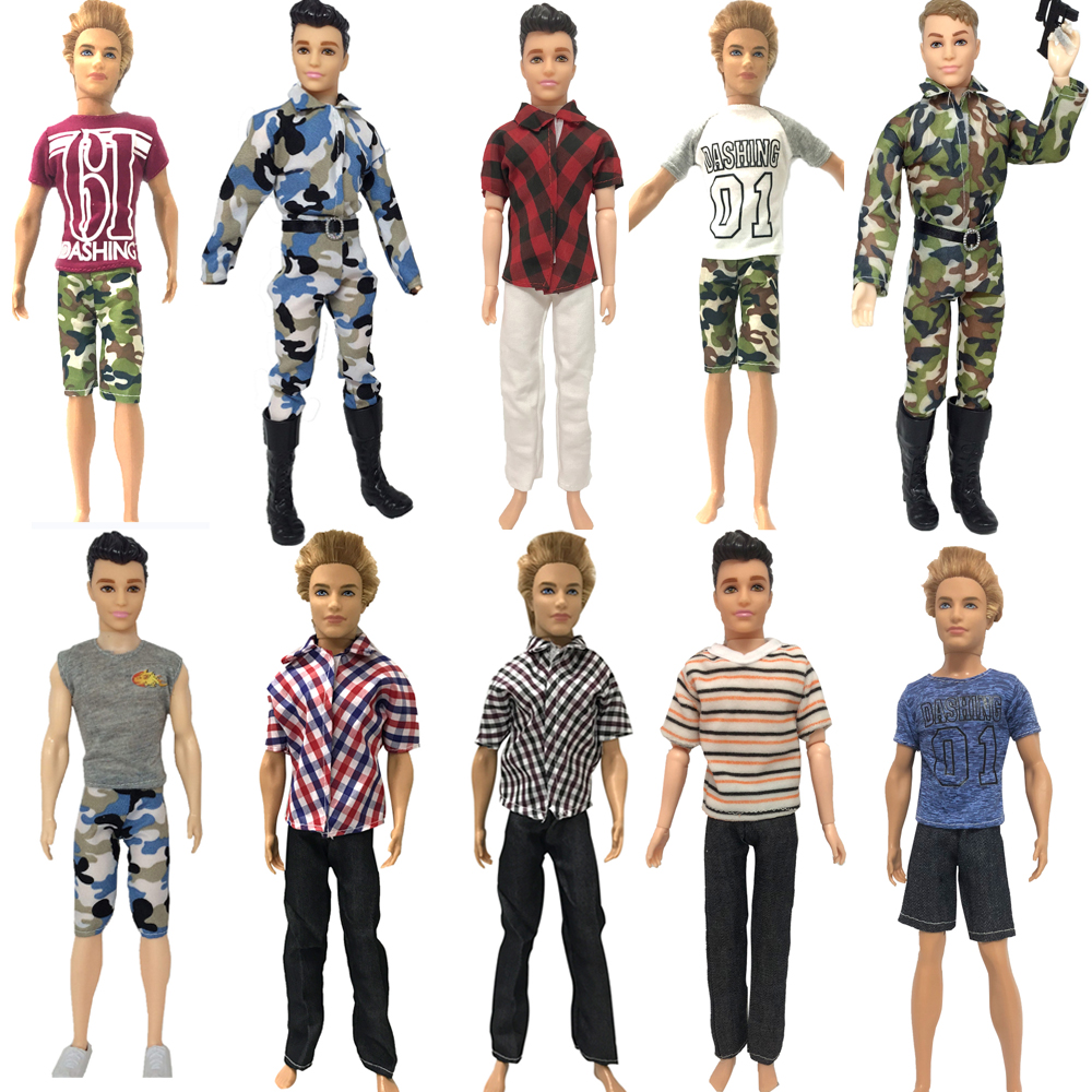 NK  2019 Prince Ken Doll Clothes Mix Fashion Suit Cool Outfit For  KEN Doll  Accessories DIY Toys  Children's Presents Gift JJ