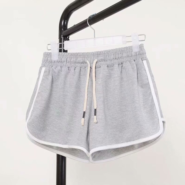 High Waist Booty Shorts Black White Loose Beach Sexy Short 2