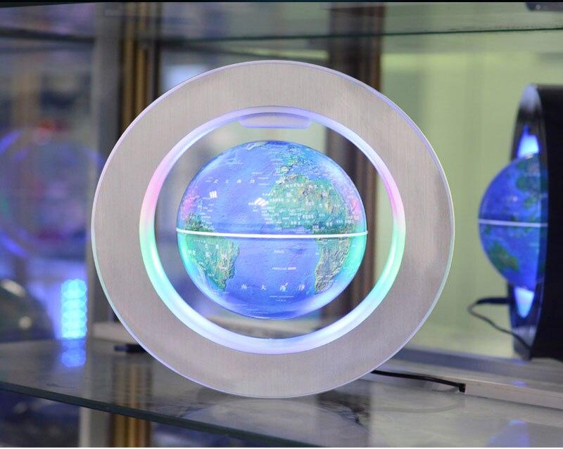 Magnetic Levitation Novelty Round LED World Map Globe Lamp Luminous Rotation Display Antigravity MagicDec Plasma Ball Light (11)