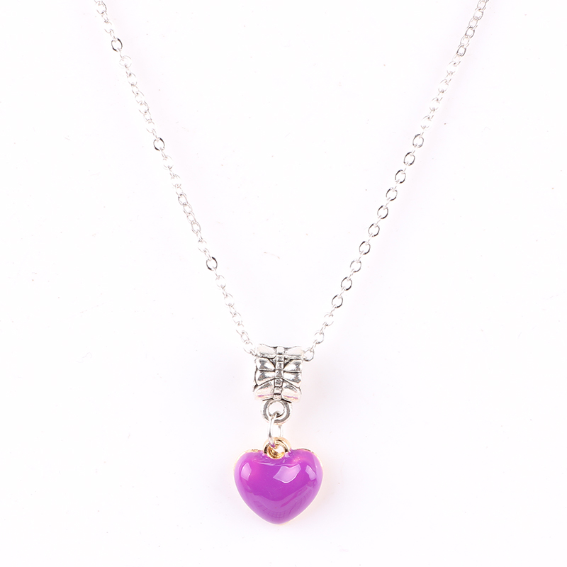 Ranqin Purple Heart Pendant Necklace European Fashion Exquisite High Quality Gift Preferred for Women Jewelry Charm
