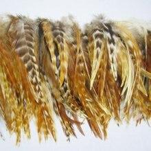 """100 шт./лот 6-"""" природа красный гризли Шиншилла rooste перья свободные перья петуха-перья оптом"""
