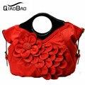 ЦЯО БАО 2017 женские сумки красные сумки женился, для новобрачных мешок цветок сумки сумка женская сумка