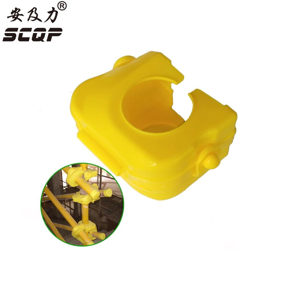Open-Type Fastener PE Material Scaffolding Case Protector Plastic Tube Cap Cross Clamp Diameter 48mm-50mm